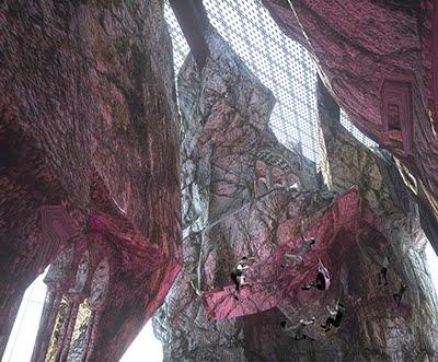 Interior of climbing crack. SPOP. Collider Activity Center